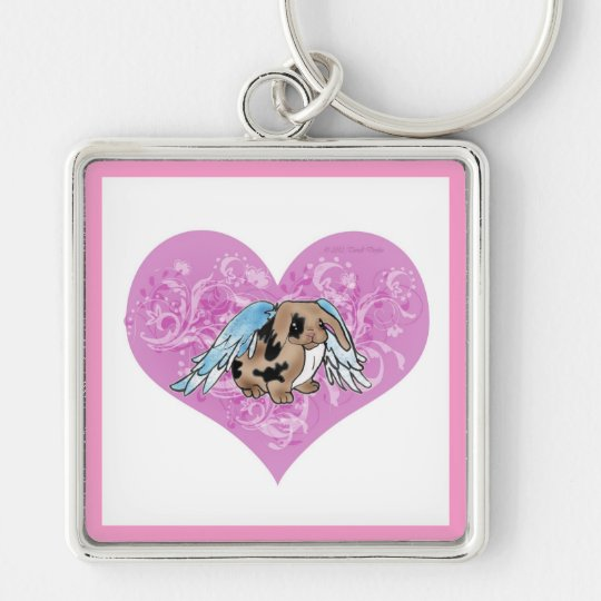 Angel Lop Bunny In Heart Keychain