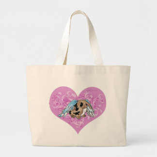 Angel Lop Bunny In Heart Large Tote Bag