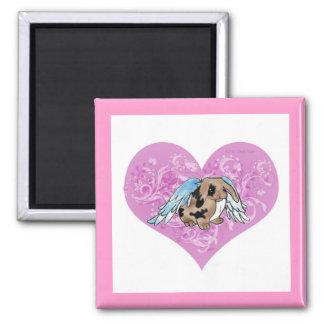 Angel Lop Bunny In Heart Magnet