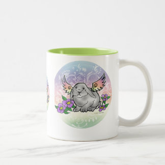 Angel Lop Bunny Two-Tone Coffee Mug