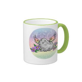 Angel Lop Bunny Ringer Coffee Mug