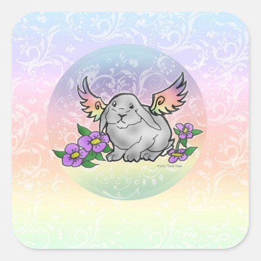 Angel Lop Bunny Sticker w/ Swirls