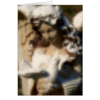 Angel Love, Angel Statue with Dove Card