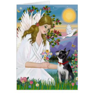 Angel Love (card) - Boston Terrier 3 Card