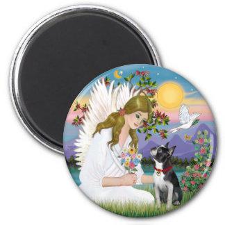 Angel Love card - Boston Terrier 3 Fridge Magnet