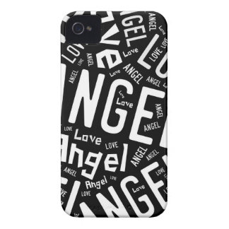 Angel Love Dove, Black and White Typography Case-Mate iPhone 4 Case