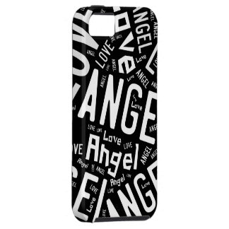 Angel Love Dove, Black and White Typography iPhone SE/5/5s Case