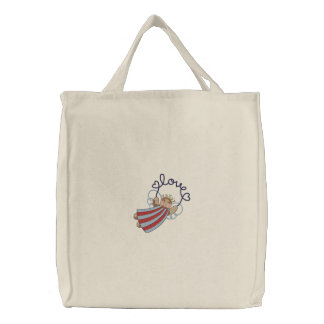 Angel Love Embroidered Tote Bag