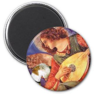 Angel & Mandolin - Sealyham Terrier 2 Inch Round Magnet