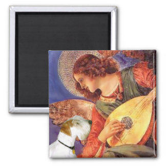 Angel & Mandolin - Sealyham Terrier 2 Inch Square Magnet
