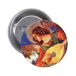 Angel & Mandolin - Sealyham Terrier Pinback Buttons
