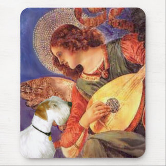 Angel & Mandolin - Sealyham Terrier Mouse Pad