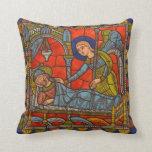 Ángel medieval de Chartres del vitral Almohadas