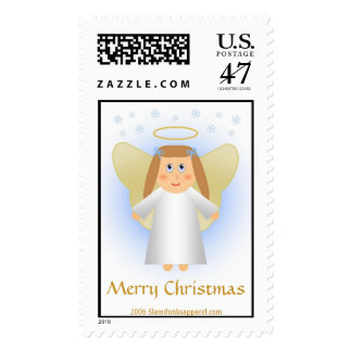 Angel - Merry Christmas stamp