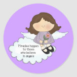 Angel Miracles Classic Round Sticker