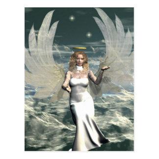 Ángel místico postal