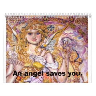 Angel Moloney., An angel saves you. Calendar