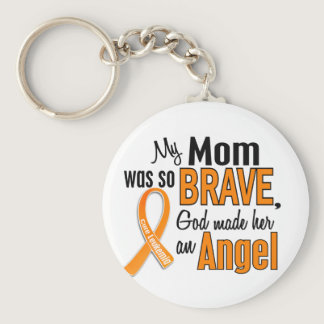 Angel Mom Leukemia Keychain