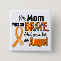 Angel Mom Leukemia Pinback Button