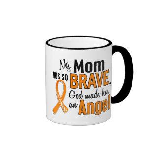 Angel Mom Leukemia Ringer Mug
