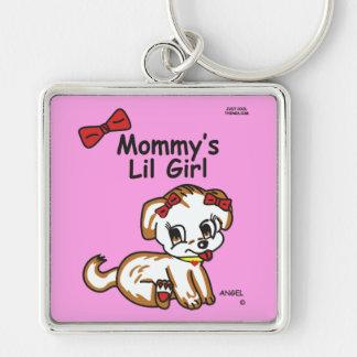 Angel Mommy's Lil Girl Keychain