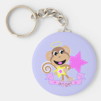 angel monkey keychain