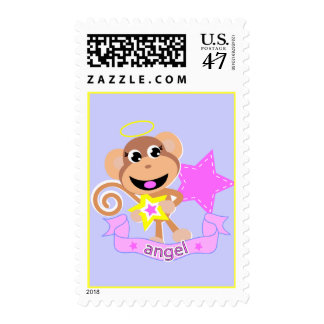 angel monkey postage