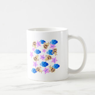 angel monkey print. coffee mug
