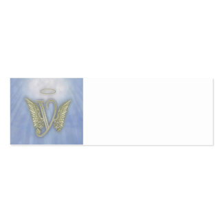 Angel Monogram Double-Sided Mini Business Cards (Pack Of 20)