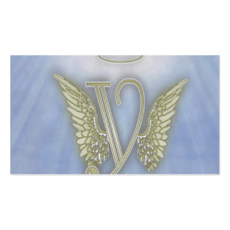 Angel Monogram Double-Sided Standard Business Cards (Pack Of 100)