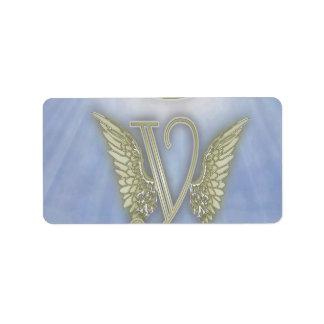 Angel Monogram Label