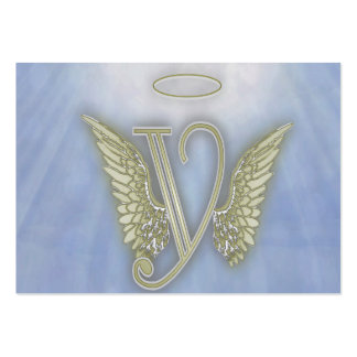 Angel Monogram Large Business Cards (Pack Of 100)