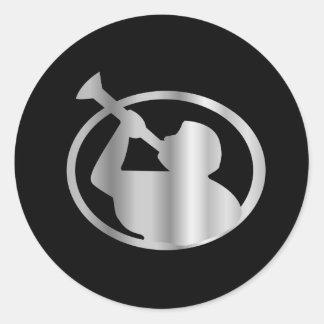 Angel Moroni- A symbol of Mormonism religion Classic Round Sticker