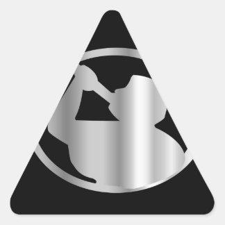 Angel Moroni- A symbol of Mormonism religion Triangle Sticker