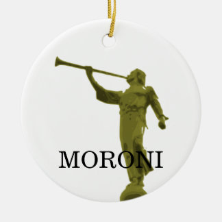 ÁNGEL MORONI ADORNO NAVIDEÑO REDONDO DE CERÁMICA