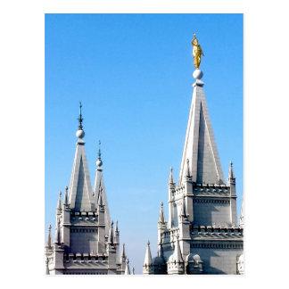 ángel Moroni del templo de Salt Lake City de los Postal