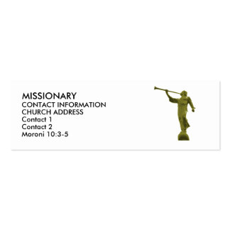 Angel MORONI LDS MISSIONARY CARDS Mini Business Card