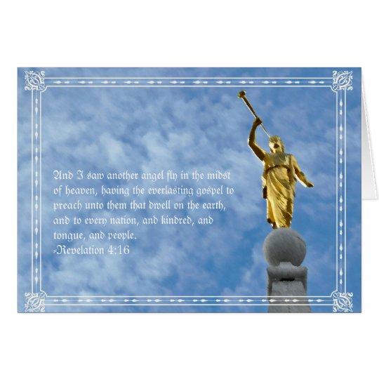 Angel Moroni on Salt Lake Temple Card