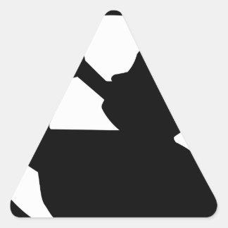 Ángel Moroni Pegatina Triangular