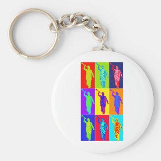 Angel Moroni Pop Art Basic Round Button Keychain