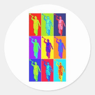 Angel Moroni Pop Art Round Stickers
