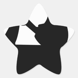 Angel Moroni Star Sticker