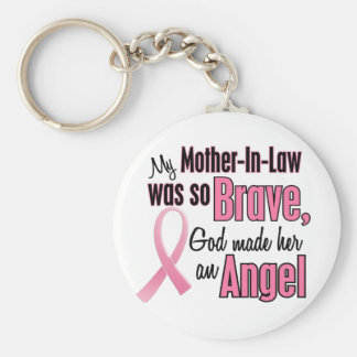 Angel MOTHER-IN-LAW Breast Cancer T-Shirts Keychain