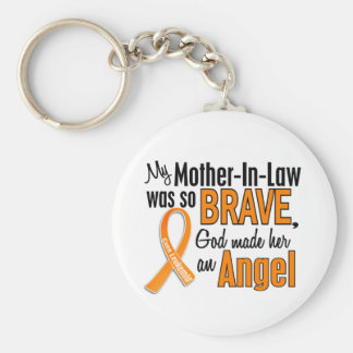 Angel Mother-In-Law Leukemia Keychains
