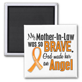 Angel Mother-In-Law Leukemia Magnet