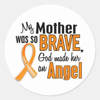 Angel Mother Leukemia Classic Round Sticker