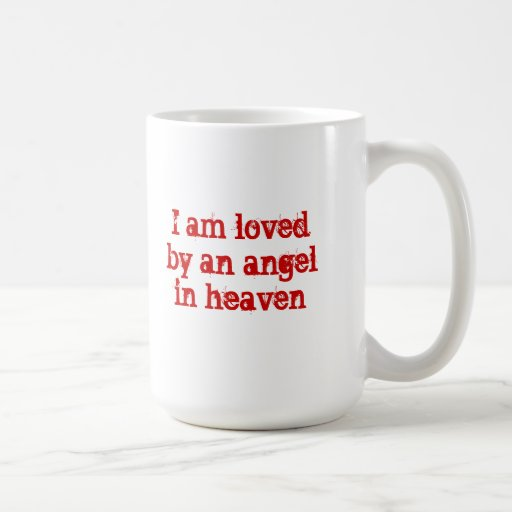 Angel Mug--Red Lettering Classic White Coffee Mug