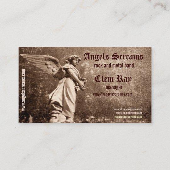 Angel music band business card zazzle angel music band business card colourmoves