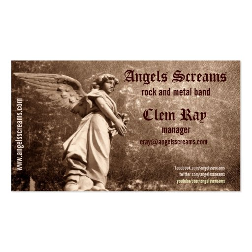 angel music band business card