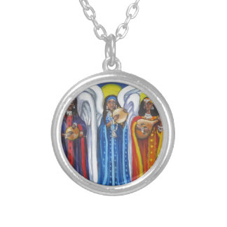 Angel Music Trio Silver Plated Necklace